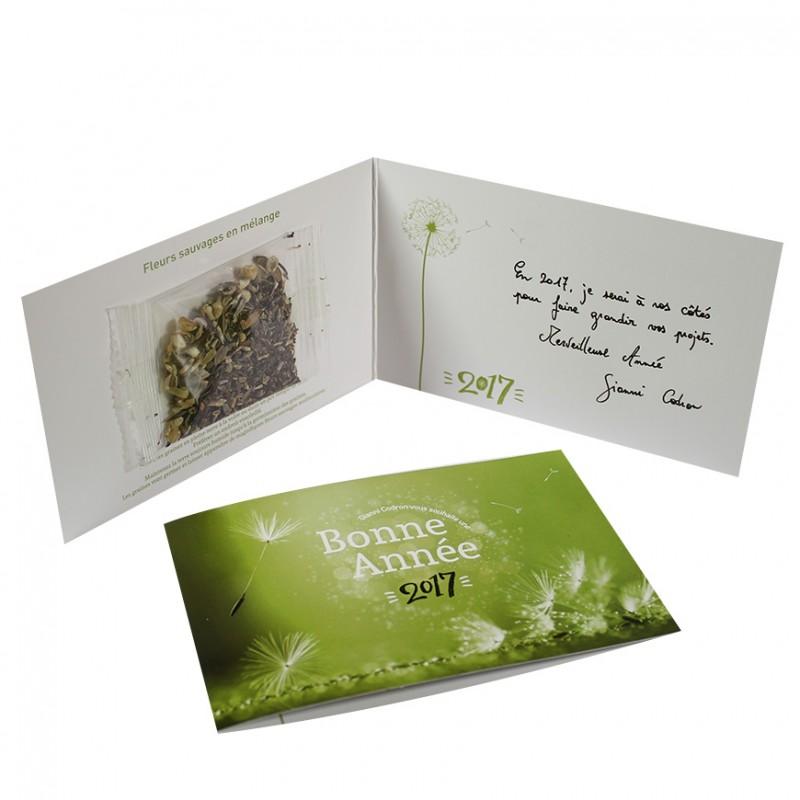 Favori Carte de vœux 2018 avec graines - Objet Publicitaire Nature JO13
