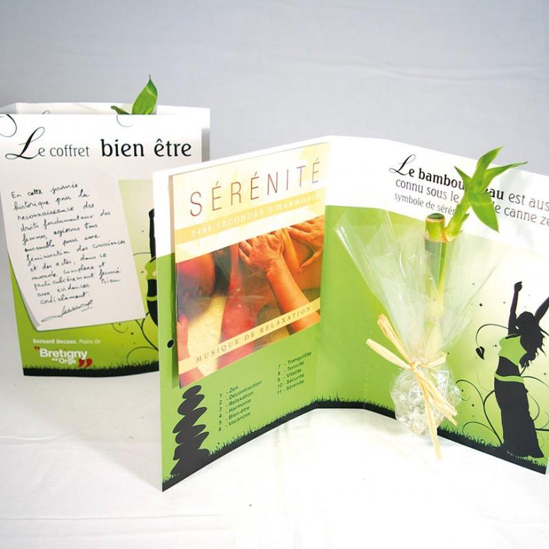 carte de voeux 2019 avec plante bambou cd th me bien tre relaxation. Black Bedroom Furniture Sets. Home Design Ideas
