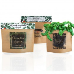 Sac de plantation publicitiare autoportant en papier kraft grand format