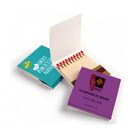 Pochette d'allumettes publicitaire personnalisable - Boîte à personnaliser