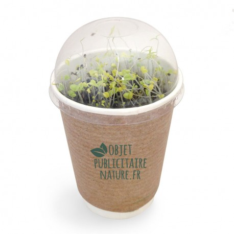 "Kit de plantation publicitaire personnalisable en pot ""Smoothie"""