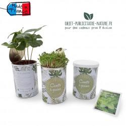 Kit de plantation de graines publicitaire en canette personnalisée