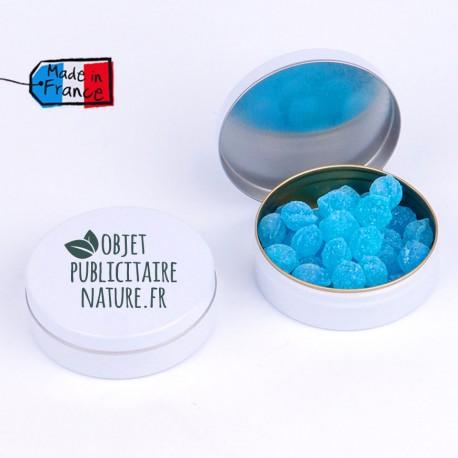 Boîte bonbons personnalisable 50mm 16 Gr - Parfum menthe