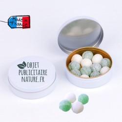 Boîte bonbons personnalisable 50mm 16 Gr - Parfum anis