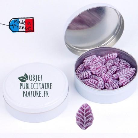 Boîte bonbons personnalisable 75mm 50Gr - Parfum Lavande