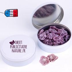 Boîte bonbons personnalisable 75mm 50Gr - Parfum violette miel