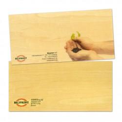 Carte cadeau en bois personnalisée format correspondance 200x99mm