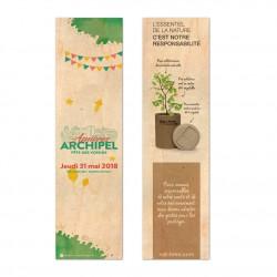 Marque-pages en bois personnalisé format 47x178mm