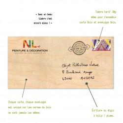 Enveloppe en bois personnalisable format long 210x105mm
