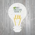 Carte à graines à planter personnalisable forme d'ampoule