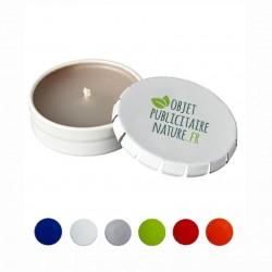 Bougie personnalisée en boîte clic-clac couleur au choix