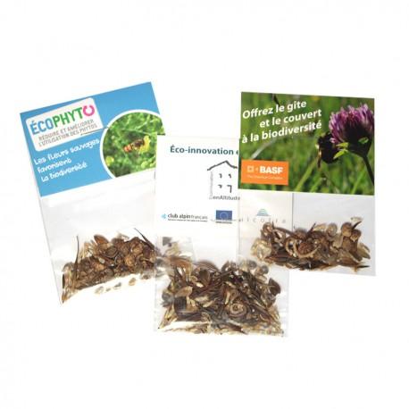 Sachet d'épices Bio transparent avec cavalier personnalisable