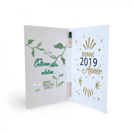 Carte de voeux / dépliant avec crayon à planter - Sprout®