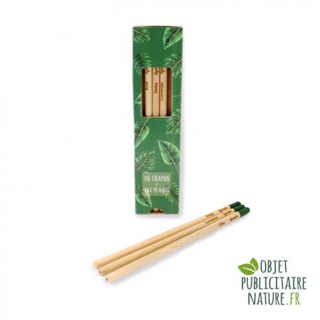 Coffret de 3 crayons de couleur personnalisés à planter - Sprout®