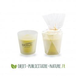 Bougie parfumée personnalisée en pot verre dépoli 7,5cm