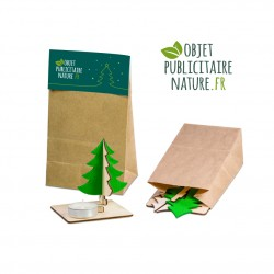 Kit puzzle sapin de Noël en bois avec bougeoir chauffe plat