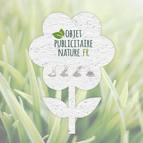 Carte à graines à planter personnalisable forme FLEUR