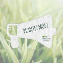 Carte à graines à planter personnalisable forme de mégaphone