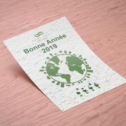 Tapis de semis publicitaire 10x15 cm (graines au choix)