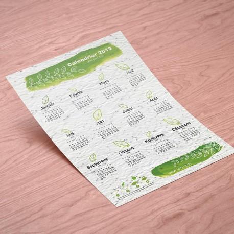 Carte ensemencée à planter format A4 - Calendrier à planter