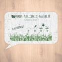 Carte à graines à planter personnalisable forme de bulle de discussion