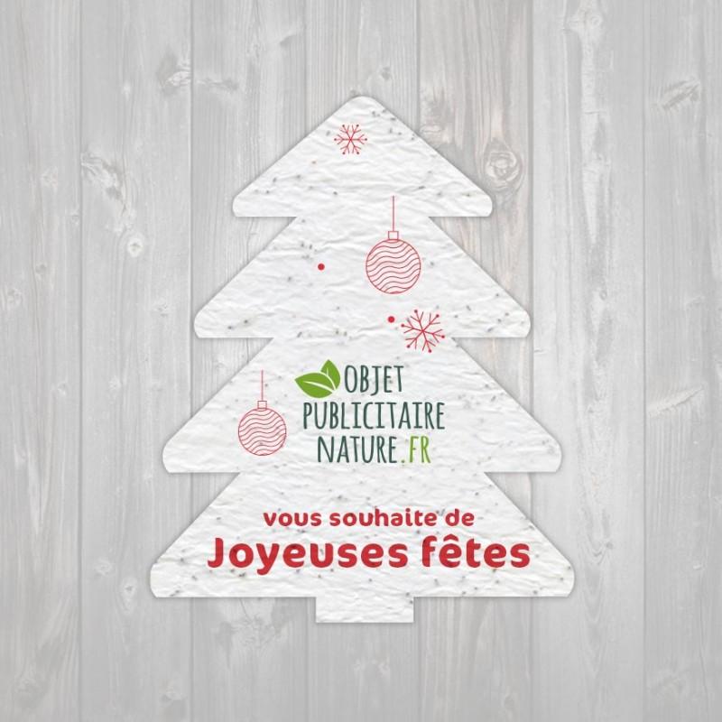 Papier ensemencé personnalisé découpe forme de sapin de Noël