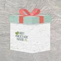 Carte ensemencée personnalisable forme de cadeau