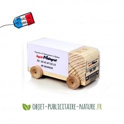Bloc note personnalisé sur camion en bois