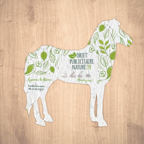 Carte à graines à planter personnalisable forme de cheval