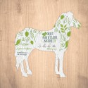 Carte à graines à planter personnalisable forme de cheval