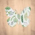 Carte ensemencée personnalisable forme de papillon
