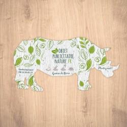 Carte ensemencée personnalisée forme de rhinocéros