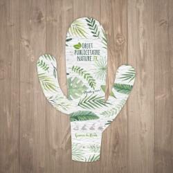 Carte ensemencée personnalisable forme de cactus