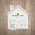 Carte à graines à planter personnalisable forme de maison