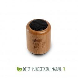Haut parleur en bois personnalisable gravure ou tampographie