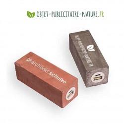 Powerbank en béton personnalisable 2600 mAh - Petit format carré