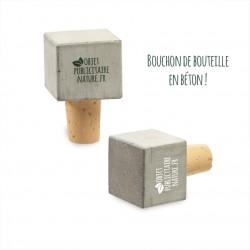 Bouchon de bouteille personnalisable en béton carré