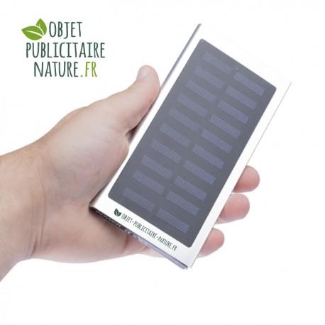 Batterie-Chargeur solaire personnalisable en aluminium