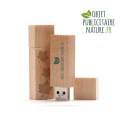 Clé USB personnalisée en bois d'érable 61 x 18 x 9 mm
