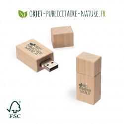 Clé USB personnalisable en bois de pin FSC 53 x 23 x 16 mm