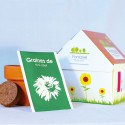 "Kit de plantation ""Maison"" packaging publicitaire"