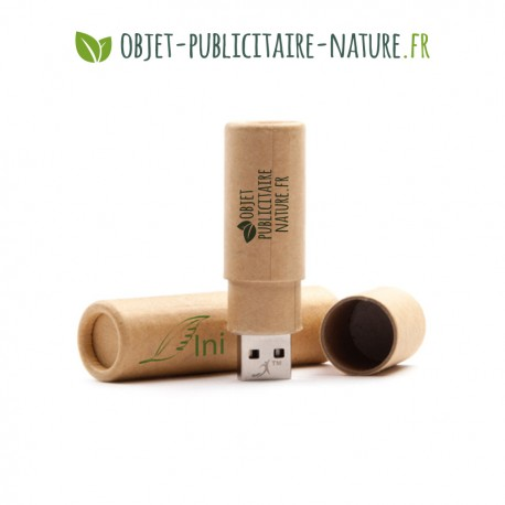 Clé USB ronde en papier recyclé personnalisable