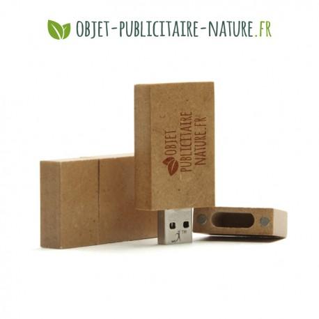 Clé USB plate personnalisable en papier recyclé compressé