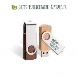 Clé USB publicitaire en bois et métal personnalisable