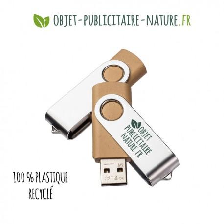 Clé USB personnalisable en plastique recyclé et métal