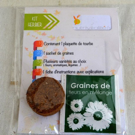 Kit de plantation ludique en sachet transparent