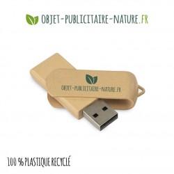 Clé USB personnalisée en plastique 100% recyclé