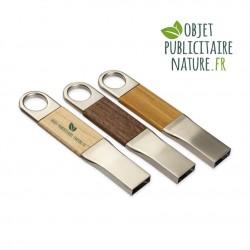 Elégante clé USB en bois et métal personnalisable