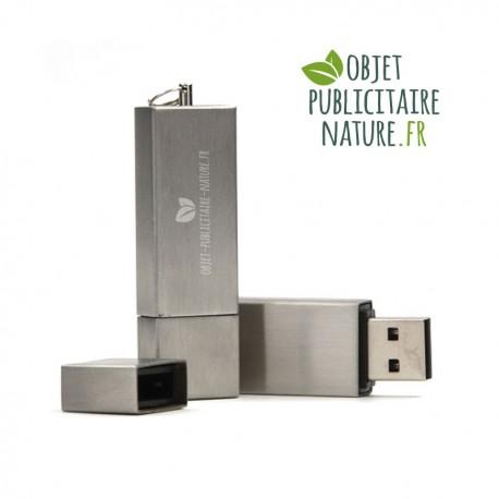 Clé USB personnalisée en métal brossé - Gravure laser