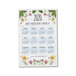 Calendrier 2021 imprimé sur papier ensemencé - 12 mois/page